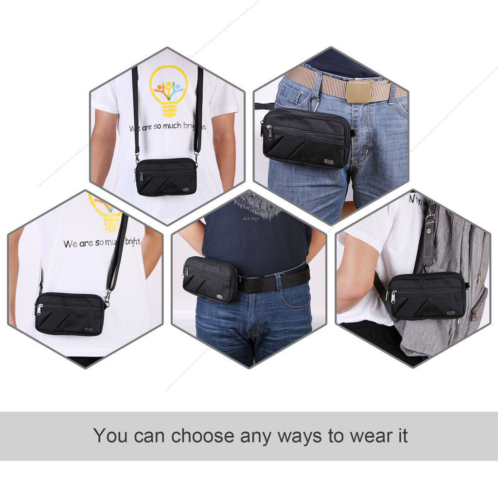 Fanny Pack, BuyAgain Quick Release Buckle Travel Sport Waist Fanny Pack Bag - JASGOOD-OFFICIAL