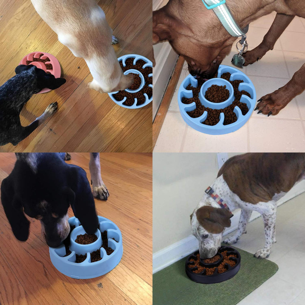 JASGOOD Slow Dog Bowl for Large Dogs,Fun Feeder Dog Bowl,Anti-Gulping Dog Slow Feeder Stop Bloat,Slow Eating Big Pet Bowl - JASGOOD-OFFICIAL