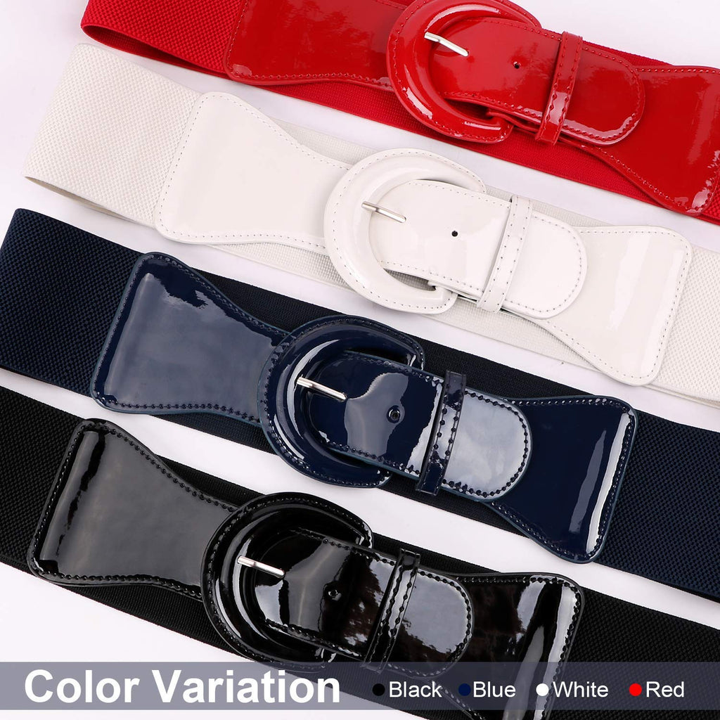 Women Wide Stretchy Cinch Belt Drss Elastic Waist Belts For Women Dress by JASGOOD