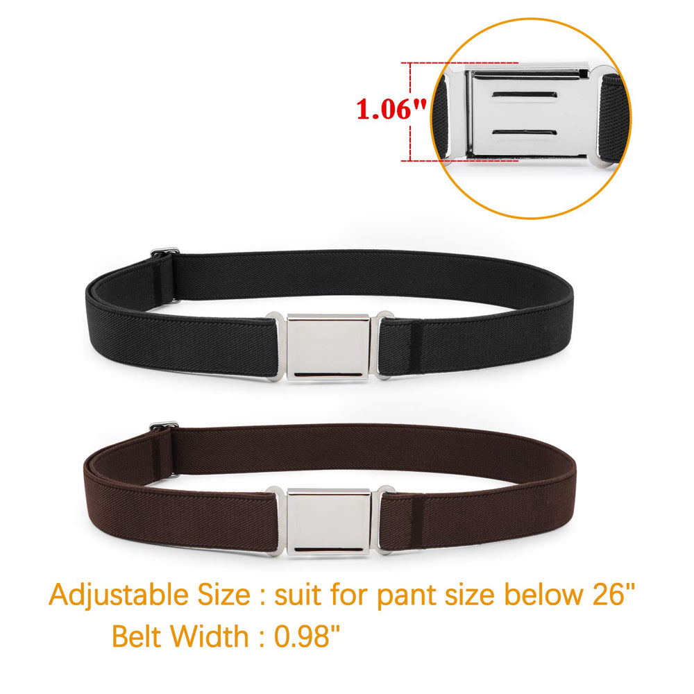 JASGOOD Kids Adjustable Magnetic Belt Boys Girls Elastic Belt with Easy Magnetic Buckle Fit Pant Size16-26Inch-JASGOOD OFFICIAL