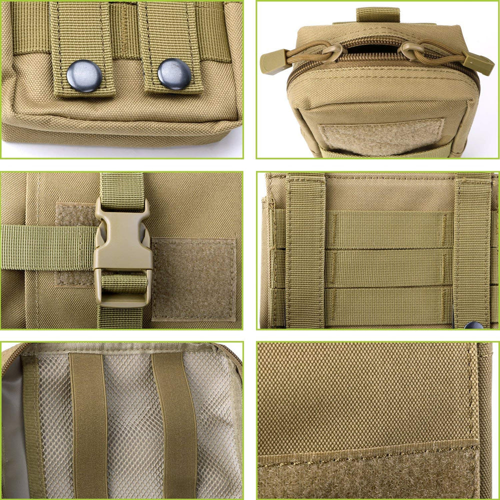 Tactical Molle Pouches Multi-Purpose EDC Military Nylon Waist Pack Utility Bag Detachable Patches/Pouches For Dog Vest Harness by JASGOOD