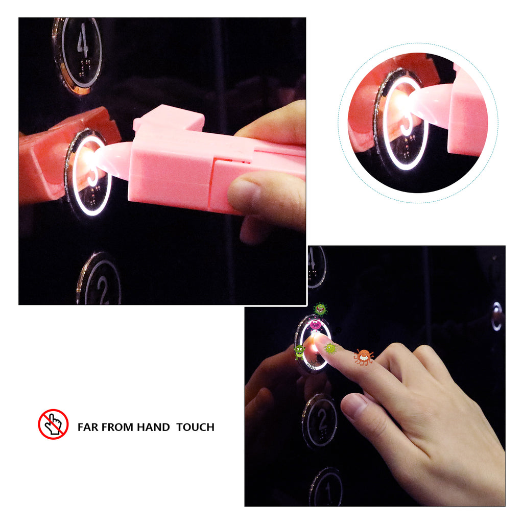 Pink and Grenn Zero Touch Tool Artifact for Lift/ Door Handle/Drawer