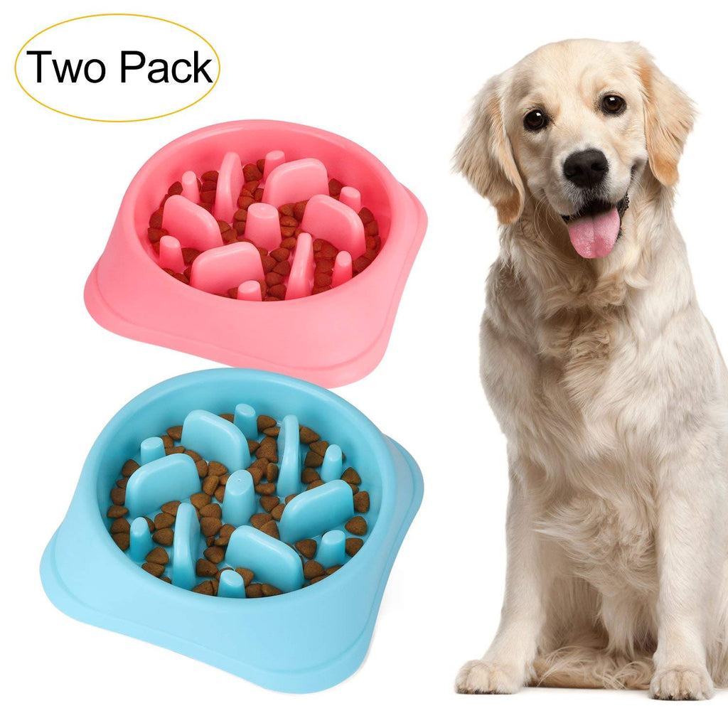 Dog Feeder Slow Eating Pet Bowl Eco-friendly Durable Non-Toxic Preventing Choking Healthy Design Bowl For Dog Pet by JASGOOD