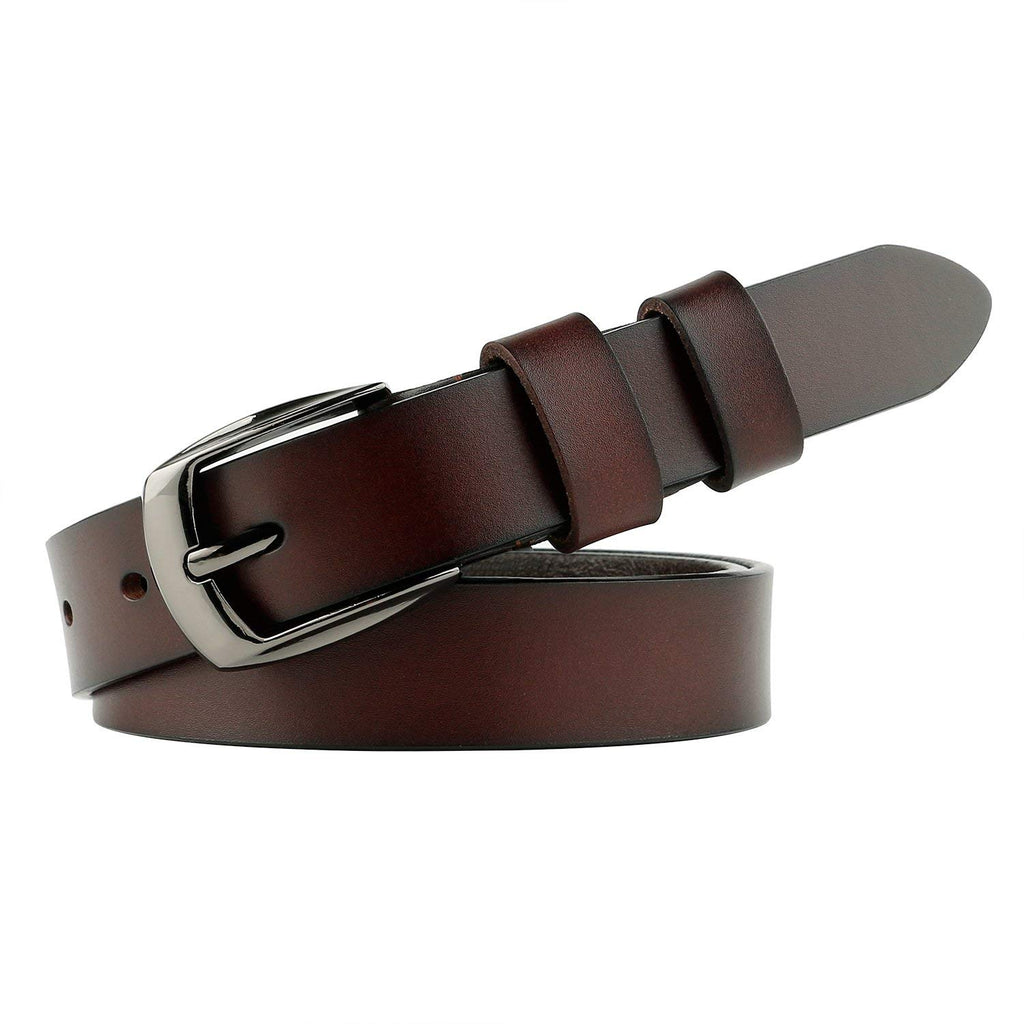 Skinny Jeans Leather Belt for Women Luxury Dress Belts With Classic Buckle by JASGOOD - JASGOOD-OFFICIAL