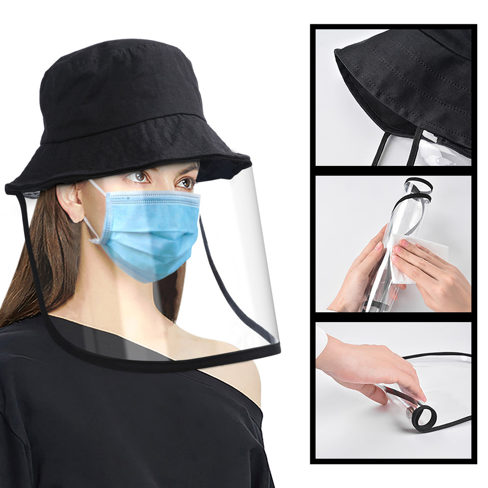 Unisex Safety Face Shield Cap