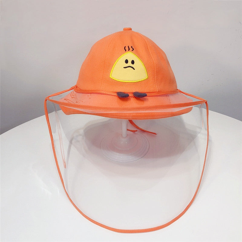 Kids Anti Spitting Full Protective Hat  Outdoor Isolation Mask Anti UV Sun Cap Fisherman Hat Small Size for Kids