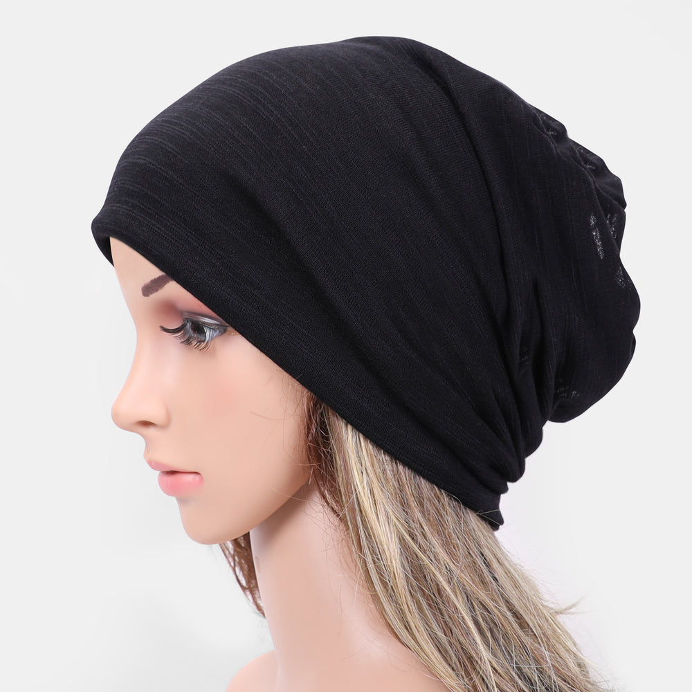 JASGOOD Fashion Soft Cotton Beanie Hat Sleep Cap for Women and Men Headwraps Fashion Slouchy Knit Beanie Sleeping Cap-JASGOOD OFFICIAL