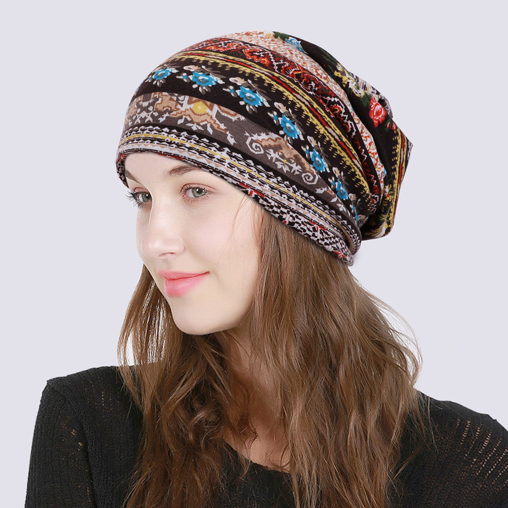 Fashion Women Beanie Hat Head Wrap Slouchy Beanie Cap for Women Cotton Sleep Cap