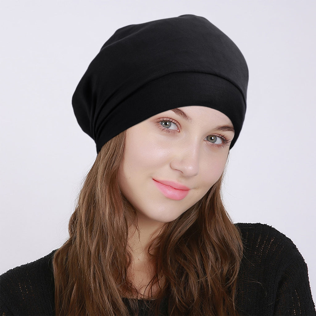 SoftJASGOOD  Cotton Sleep Cap for Women Beanie Hat Night Cap Fashion Slouchy Beanie Headwraps