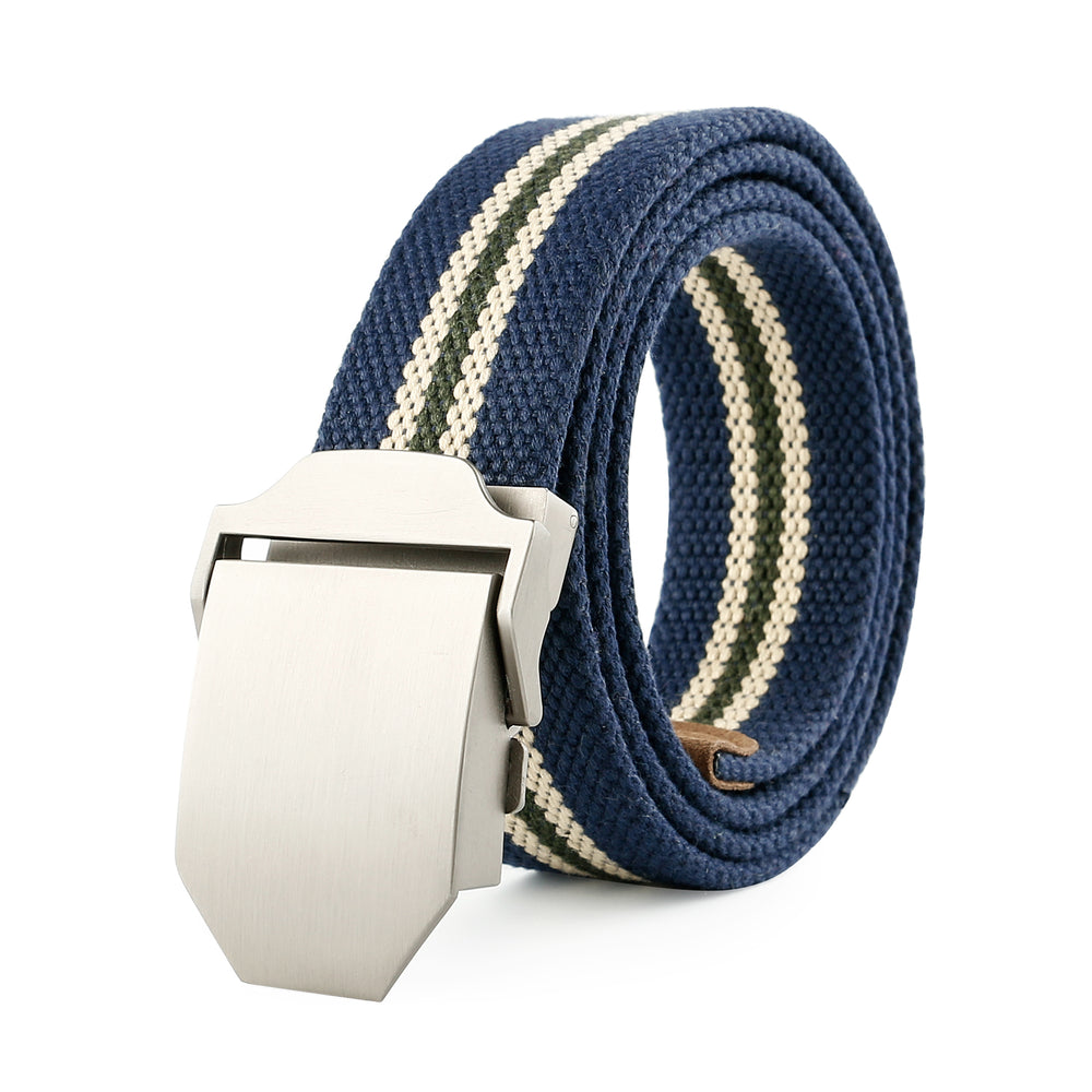 Men Canvas Web Belt Outdoor Militay Style Tactical Nylon Belt with Zinc Alloy Buckle By JASGOOD - JASGOOD-OFFICIAL