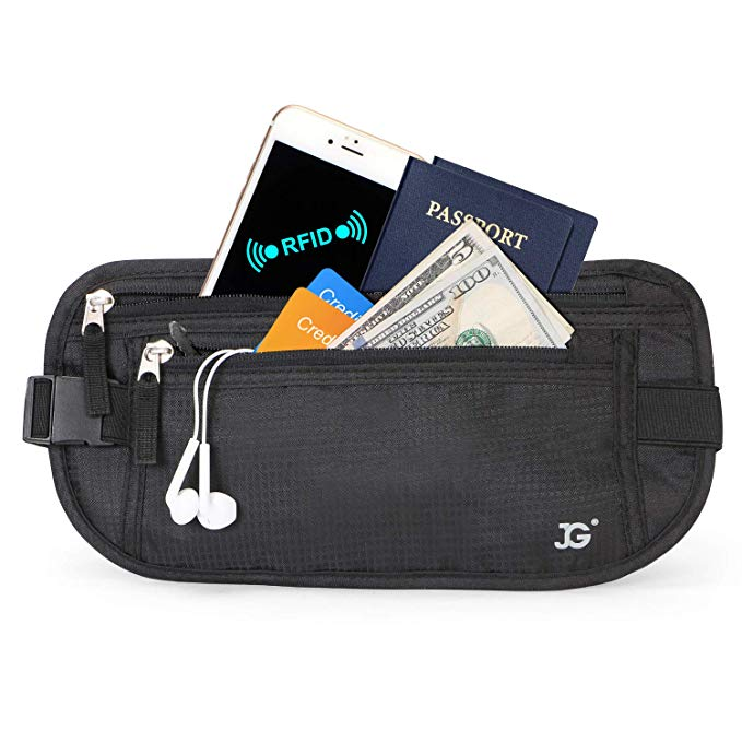 Neck Wallet RFID Blocking- Passport Holder Concealed Travel Pouch Wallet Carrier