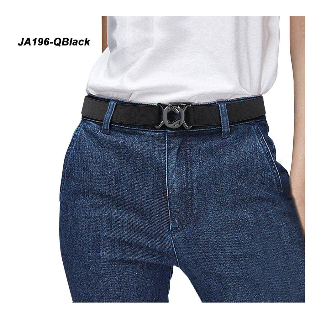 Womens Invisible Belt Comfortable Elastic Adjustable No Show Web Belt Metal Buckle Belt For Men By JASGOOD - JASGOOD-OFFICIAL