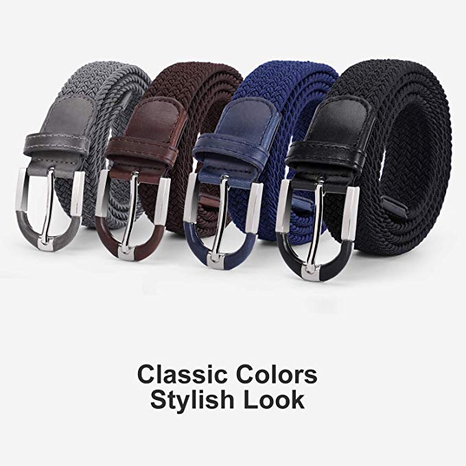 Braided Stretch Belt, JASGOOD Elastic Woven Belt for Men and Women - Casual Belt for Jeans - JASGOOD-OFFICIAL