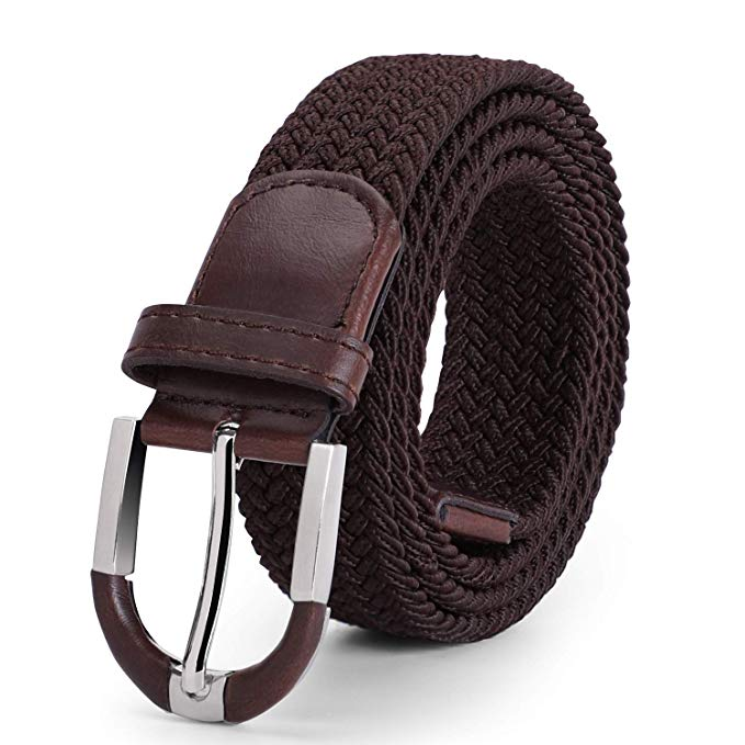 JASGOOD Men Elastic Woven Belt Men Braided Stretch Belt Casual Belt for Jeans with High Quality Strap - JASGOOD-OFFICIAL
