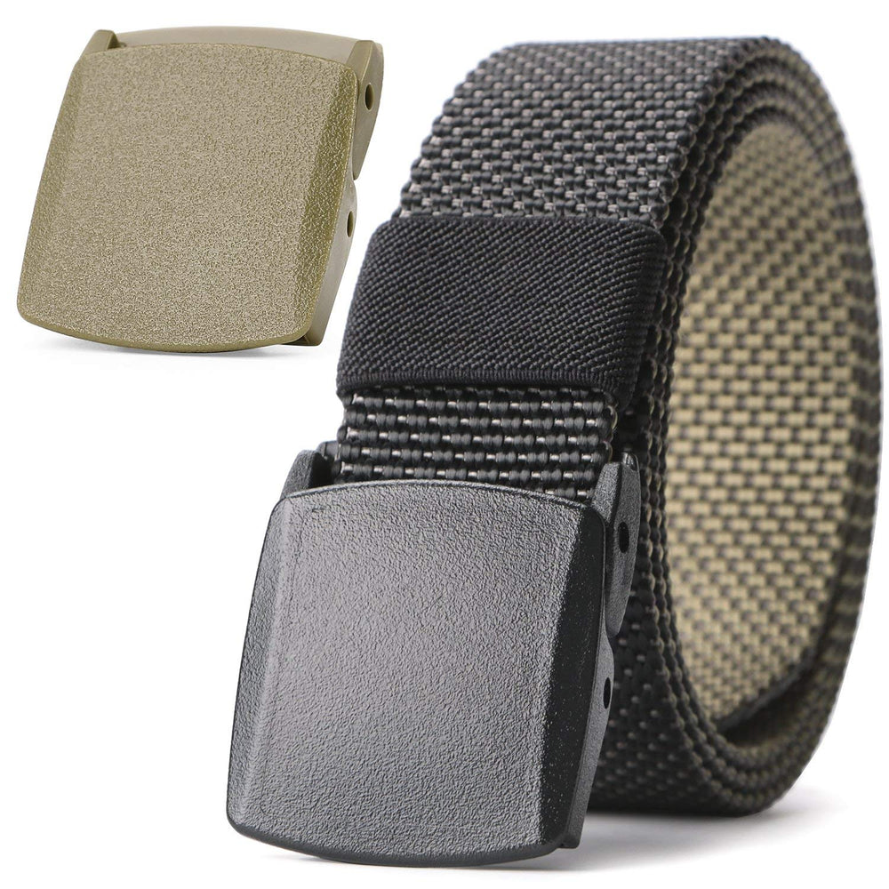 "Nylon Belt Outdoor Belt Reversible Belt Tactical Duty Belt with YKK Plastic Buckle Up to 48""  by JASGOOD"