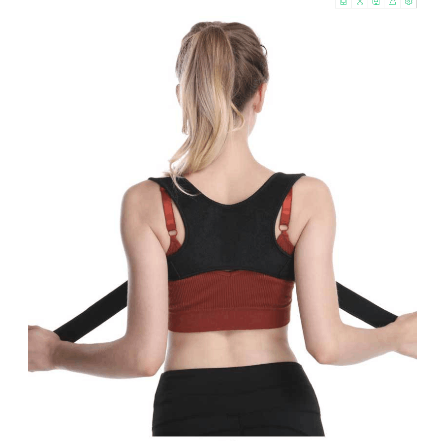 Posture Corrector for Women and Men with Underarm Pads - Adjustable Effective Comfortable Back Support Brace - Ideal for Clavicle Support and Upper Back Shoulder Neck Pain Relief