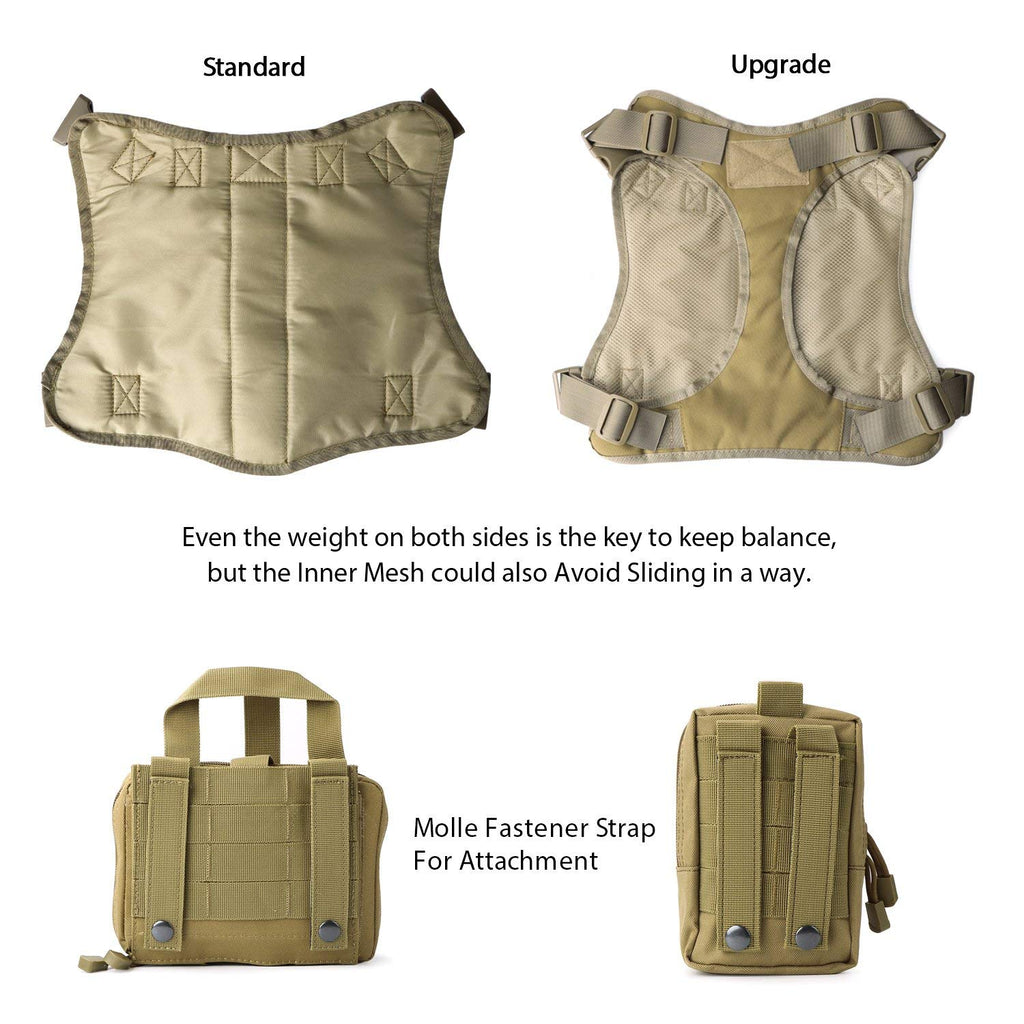 Tactical Dog Vest Military Harness With Detachable Molle Pouches/Patches Outdoor Training Handle Service Dog Vest by JASGOOD-JASGOOD OFFICIAL