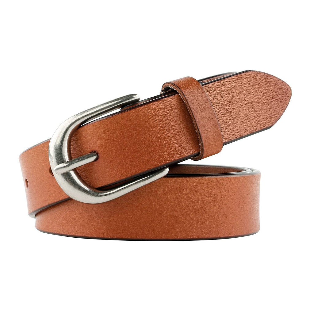 Women Leather Belt for Jeans Pants Plus Size Western Design Belt Alloy Buckle