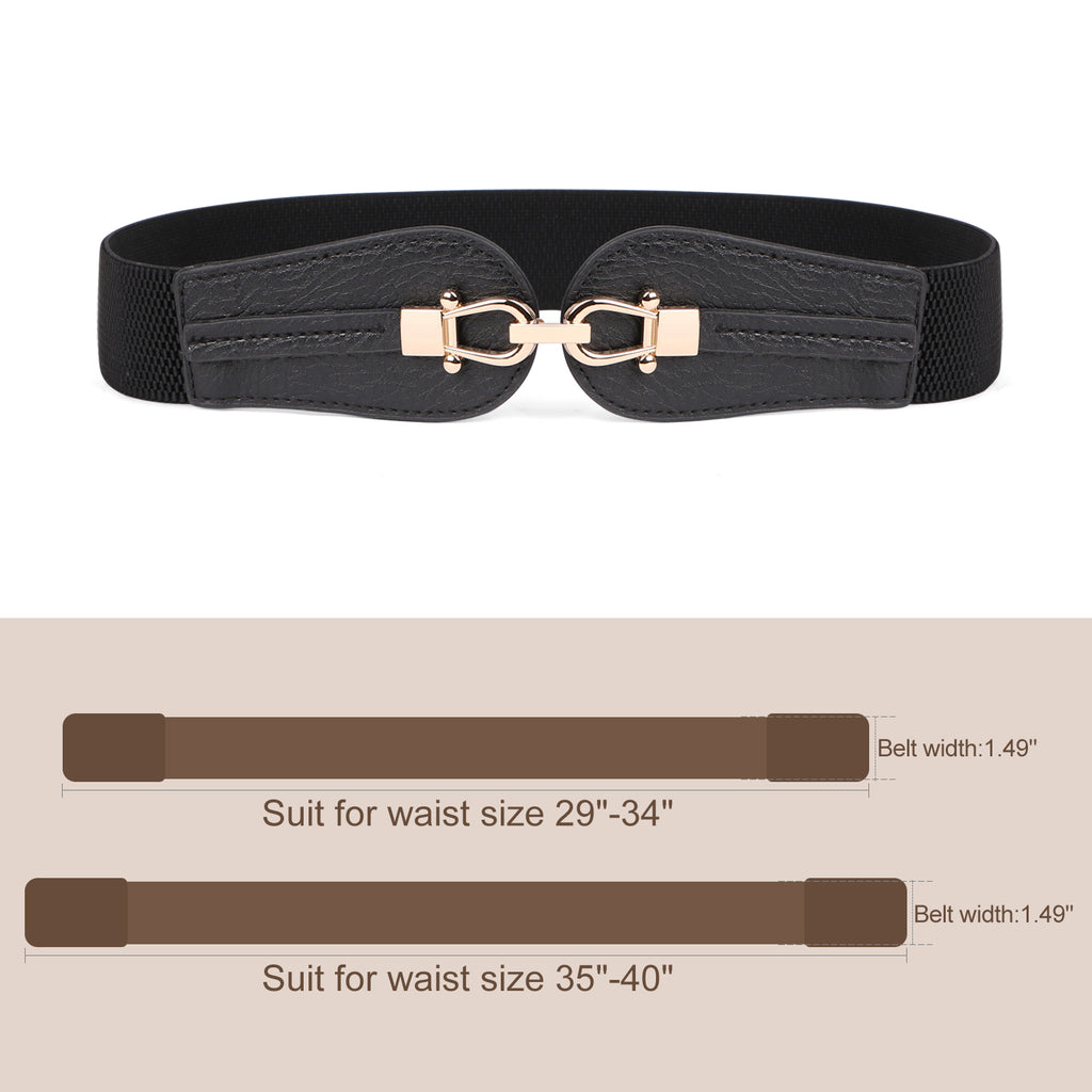 Women Stretchy Wide Waist Belt For Dress Ladies Elastic Retro Cinch Belt by JASGOOD - JASGOOD-OFFICIAL