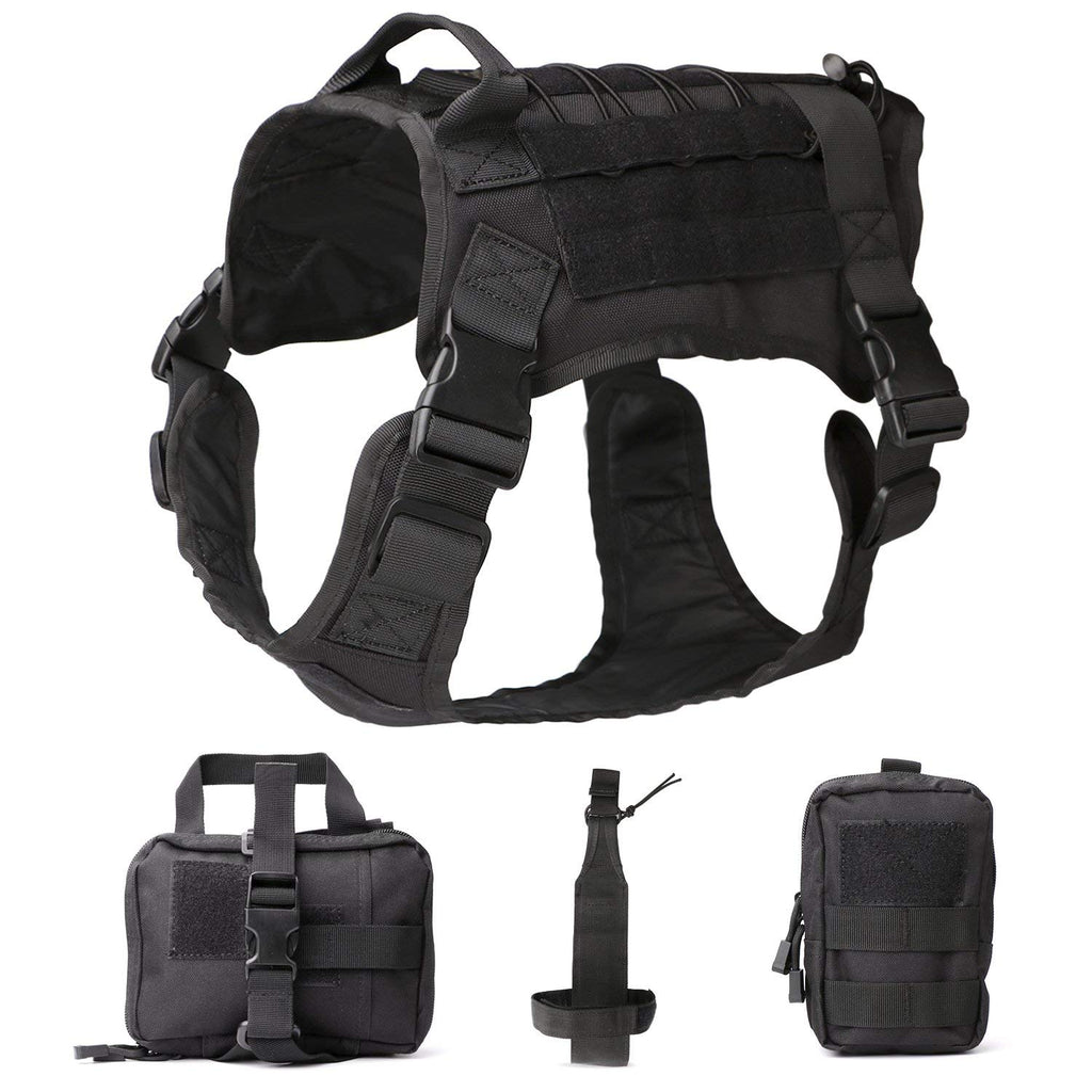 Tactical Dog Vest Military Harness With Detachable Molle Pouches/Patches Outdoor Training Handle Service Dog Vest by JASGOOD - JASGOOD-OFFICIAL