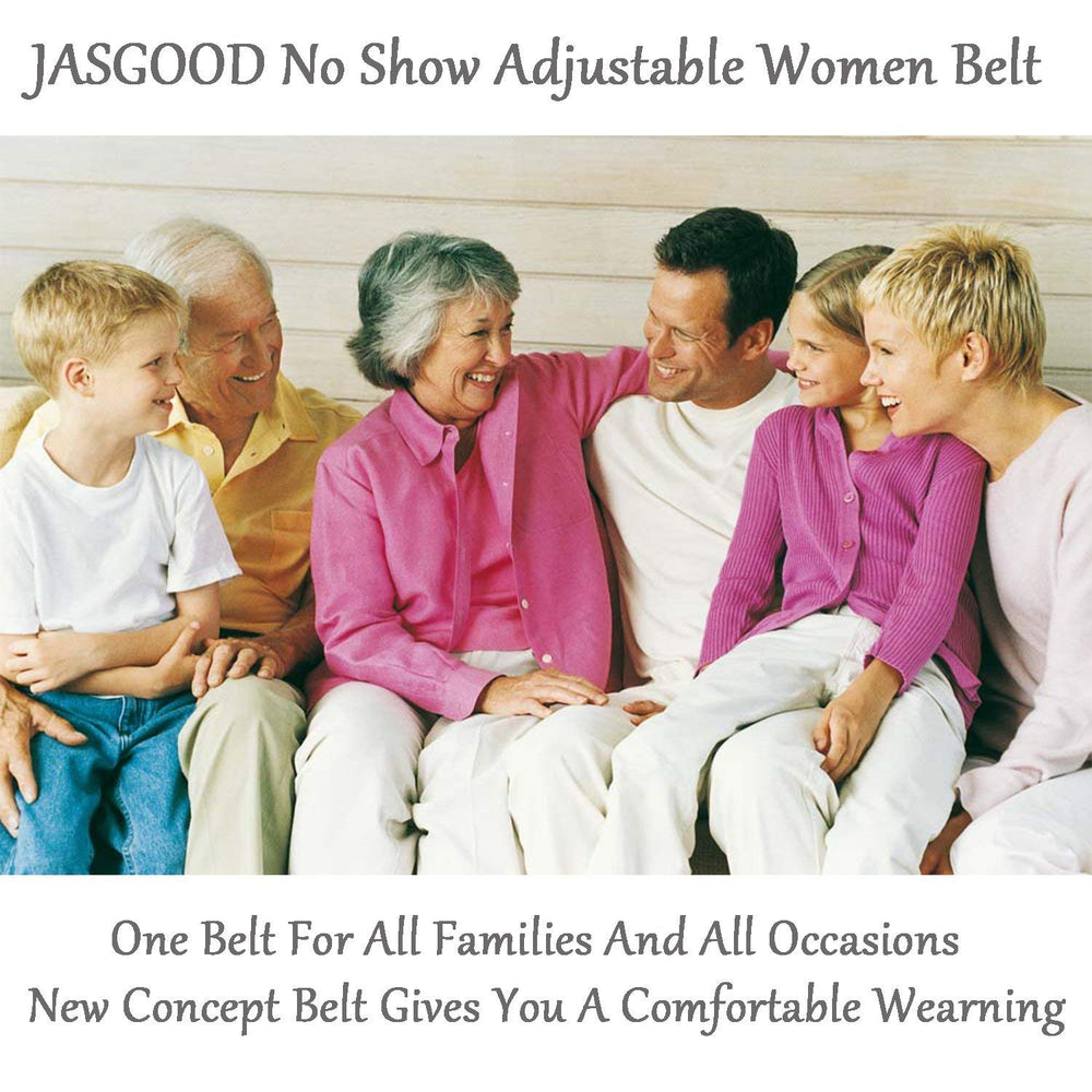 Womens Invisible Belt Comfortable Elastic Adjustable No Show Web Belt For Women Or Men By JASGOOD - JASGOOD-OFFICIAL