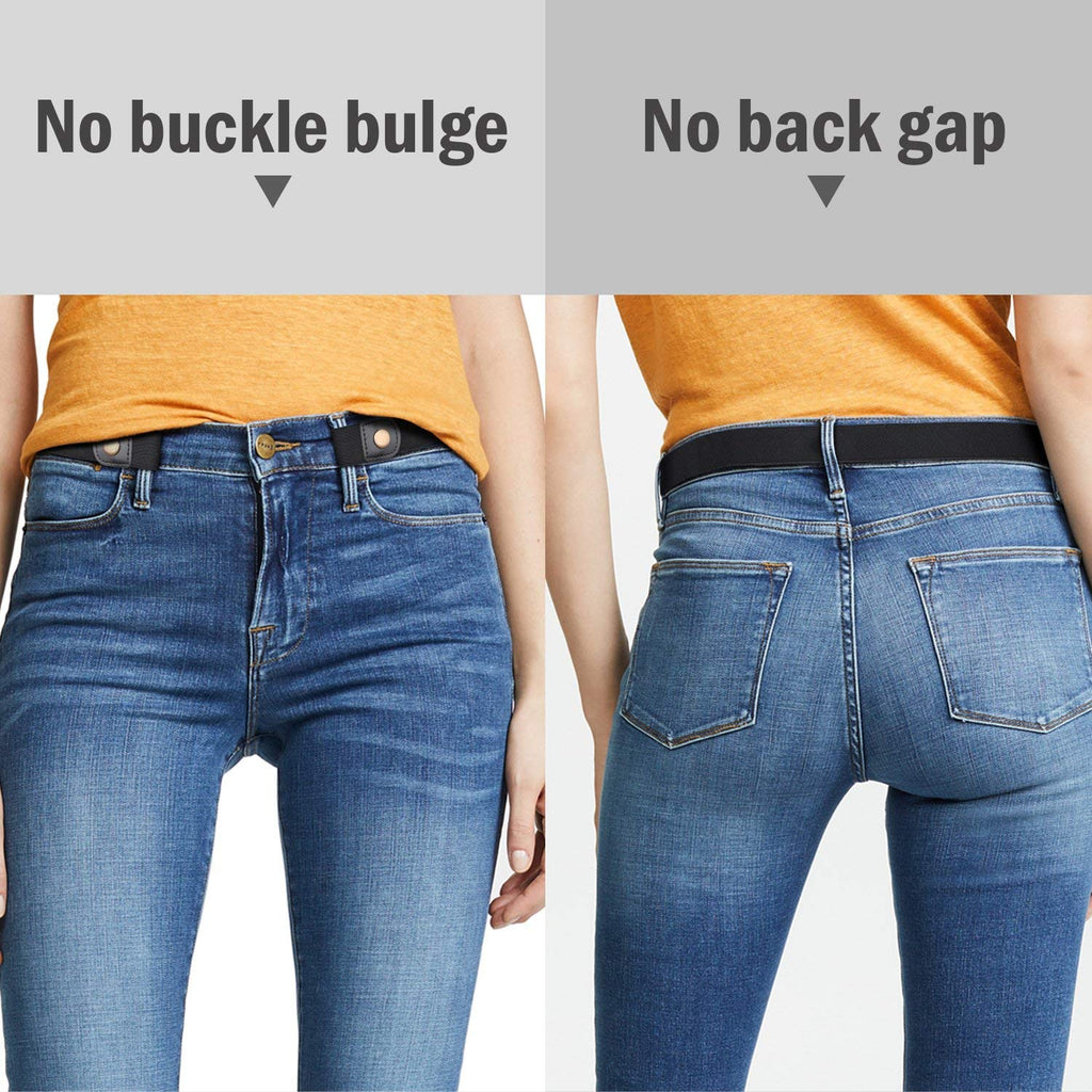 Buckle Free Women Stretch Belt Plus Size No Buckle/Show Invisible Belts for women Jeans Pants Dresses-JASGOOD OFFICIAL
