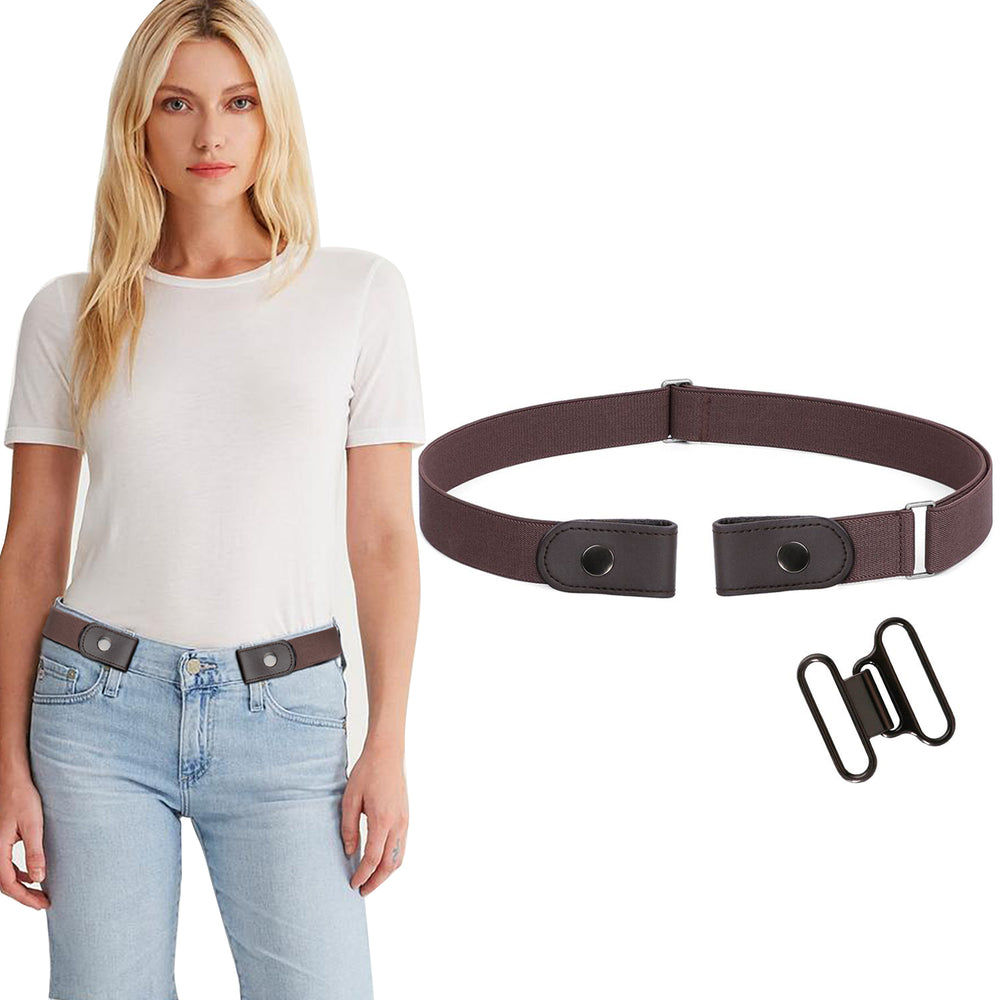 No Buckle Invisible Belt For Women Elastic Waist Belt for Jeans Pants Dresses - JASGOOD OFFICIAL