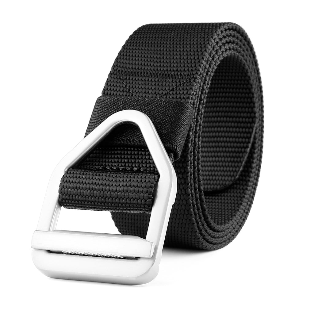 Men's Nylon Military Style Casual Army Outdoor Tactical Webbing Buckle Belt by JASGOOD