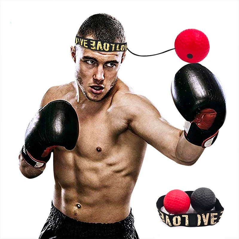 [HOME TIME FITNESS] BOXING REFLEX BALL HEADBAND
