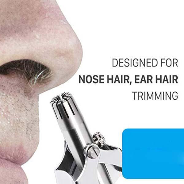 Professional Portable Manual Nose & Ear Hair Trimmer + Maul Hair Cutter, No Batteries Required for Men & Women