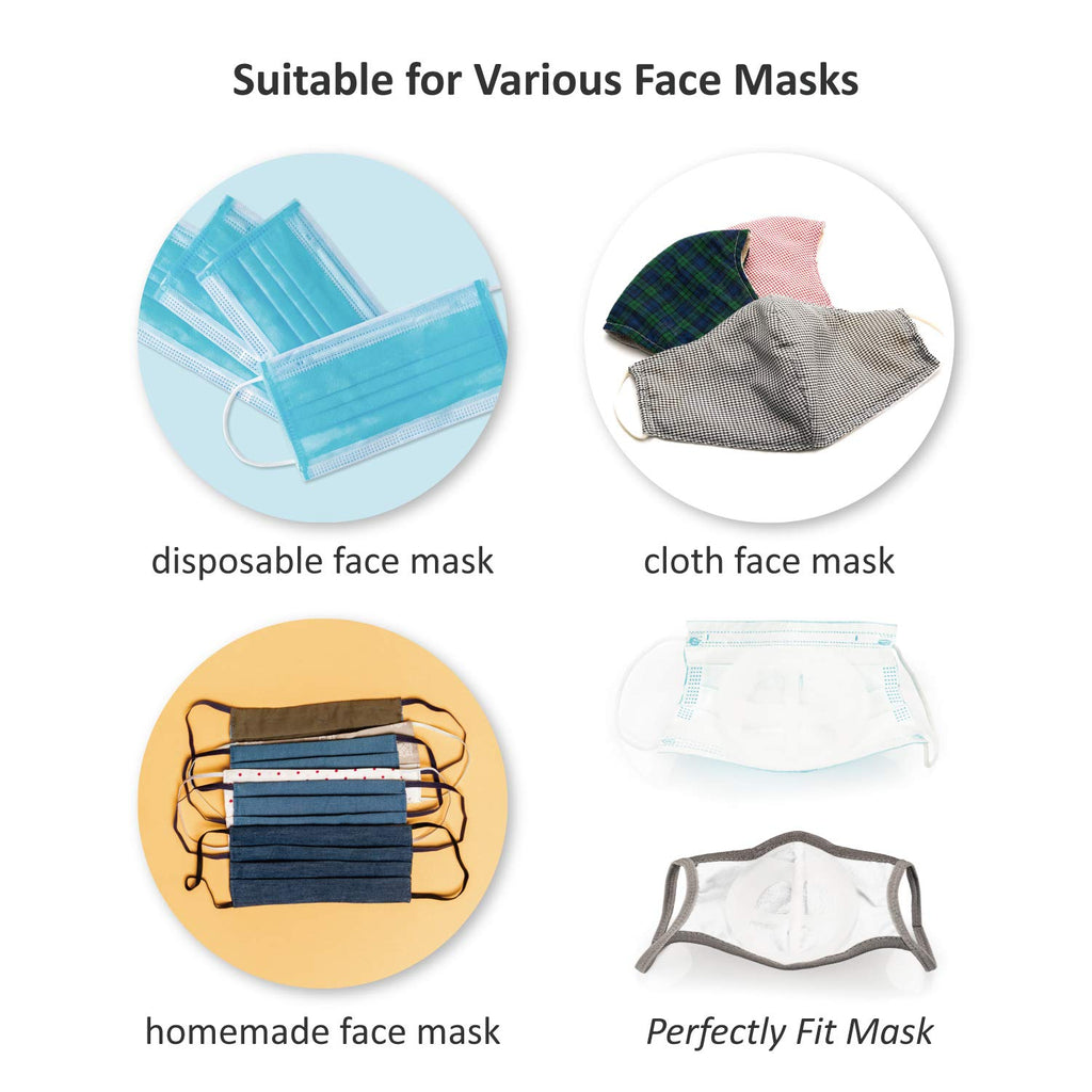 Washable and Reusable Mask Inner Frame for Better Breathing & Wearing Cleaner & Save Makeup (Buy More Save More)