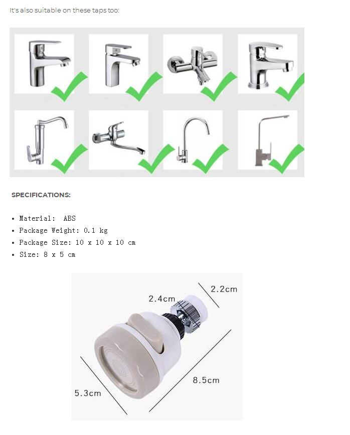 360 Degree Rotatable Faucet