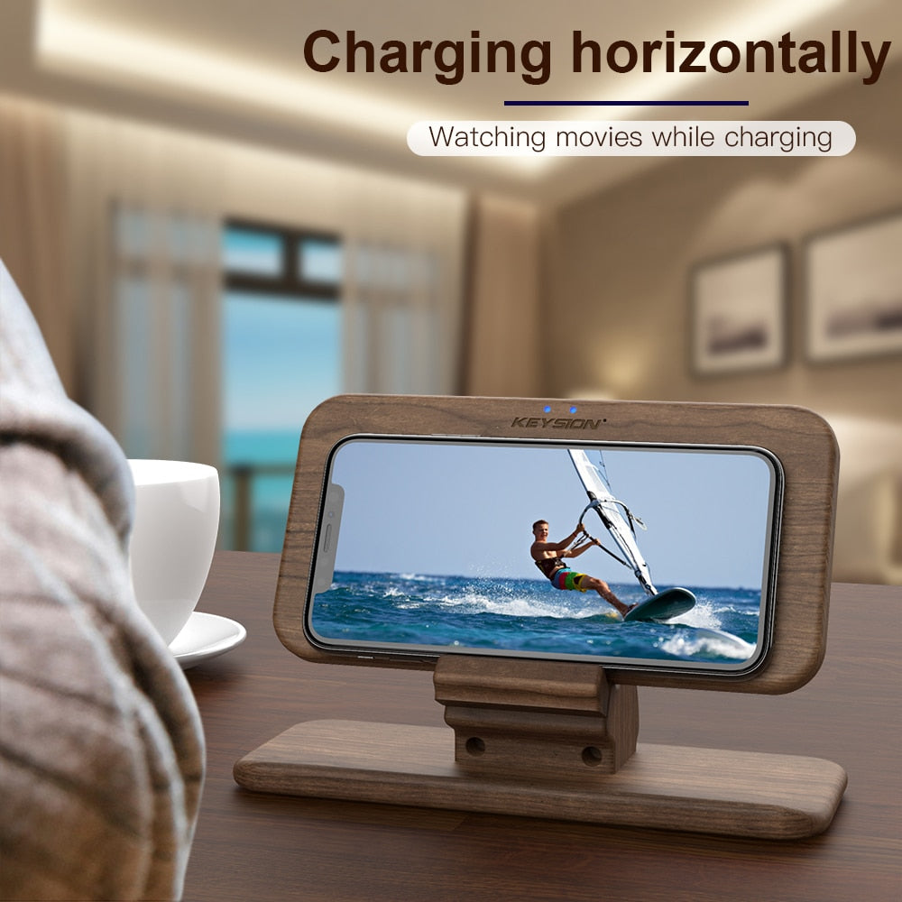 Fast Wooden Wireless Charger