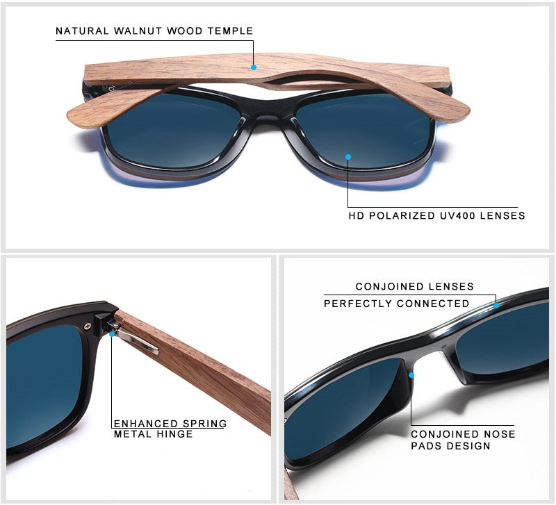 Natural Wooden Cool Sunglasses