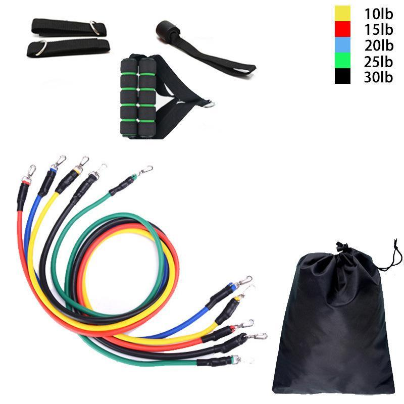 11 Piece Set Resistance Band Set