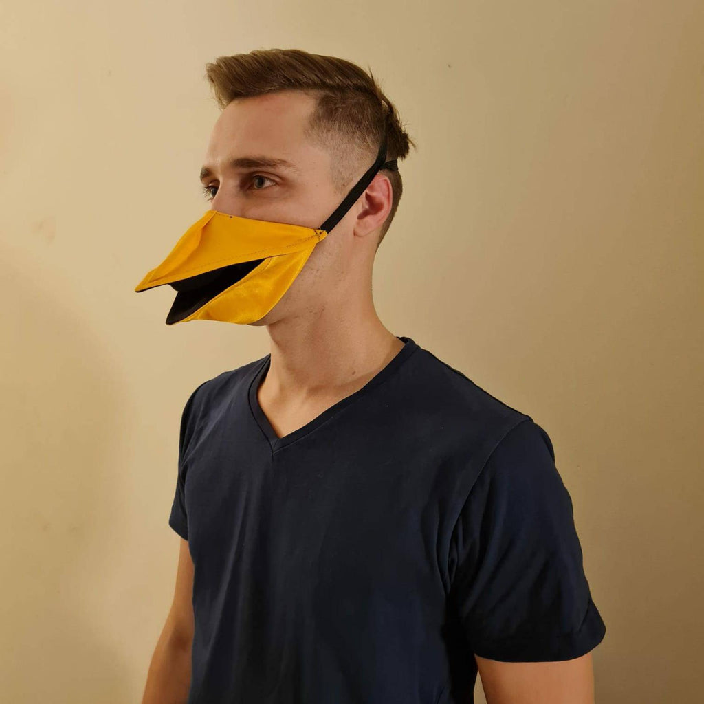 Hand Made Duck Talking Face Cover * When You Move Your Jaw, BLACK FRIDAY SALE[get code below]