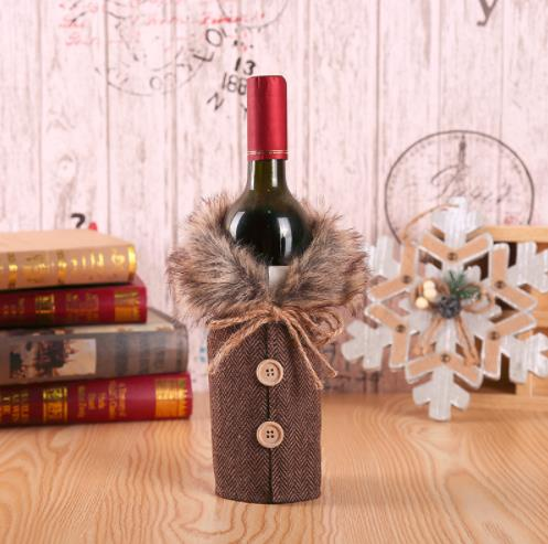Merry Christmas Wine Bottle Decorations