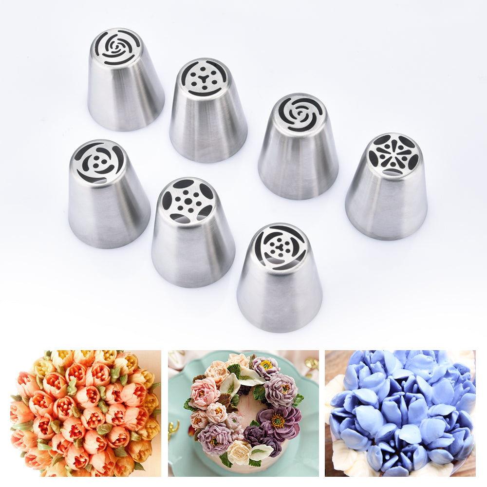 Stainless Steel Icing Piping Tips (7PCS)