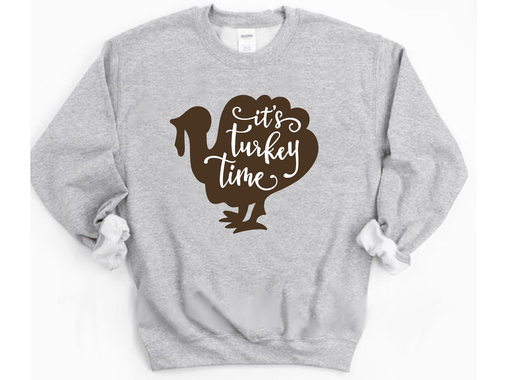 Indigo's Curve Sweatshirt Sport Grey / S It's Turkey Time Unisex Long Sleeve Sweatshirt
