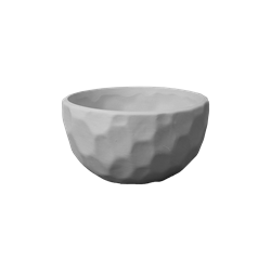 Moon Crater Faceted Bowl
