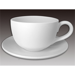 Latte Cup and Saucer