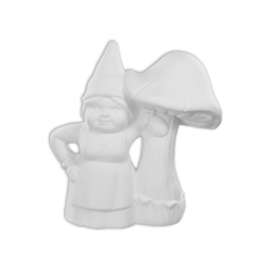 Lady Gnome and her Mushroom