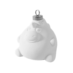 Plump unicorn ornament