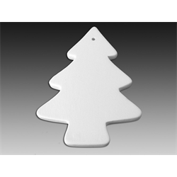 Flat Christmas Tree Ornament