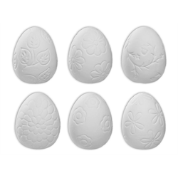Mixed Set of 3 Textured Easter Eggs
