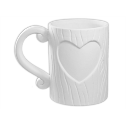 Tree Trunk Heart Mug