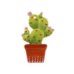 Potted cactus ornament