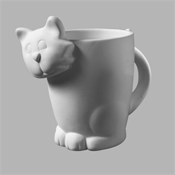 Cat Mug with 3D head
