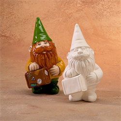 Small Gnome with Suitcase Party Animal