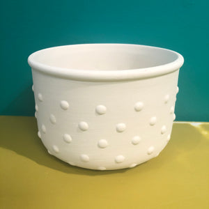 Textured Planter - Polka Dots